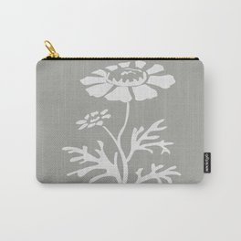 Flower Graphic in White Carry-All Pouch
