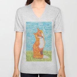 Foxy Little Fox Unisex V-Neck