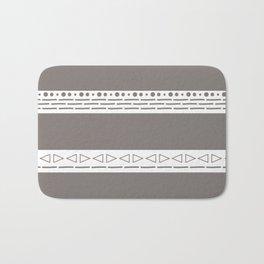 Bohemian grey&white monochromatic neutral pattern Bath Mat