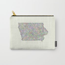 Iowa map Carry-All Pouch