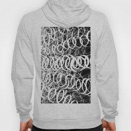 Black Spiral Swirls Reverse Hoody