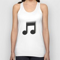 notebook Tank Tops featuring Notebook by Jorge Lopez
