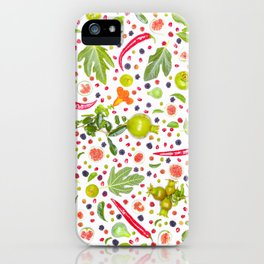 Fruits and vegetables pattern (7) iPhone Case