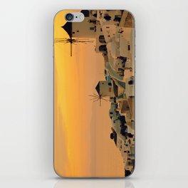 Sunset in Oia, Santorini iPhone Skin