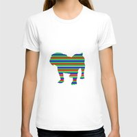 stripe T-shirts featuring Bulldog Stripe by Whimsical Notions Design