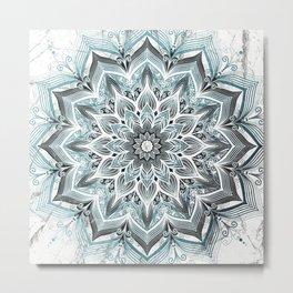 Imagination Turquoise Metal Print