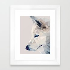 Winter, the Wolf Framed Art Print