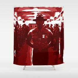 Minimalist Full Metal Jacket Shower Curtain