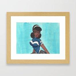 Juilie Portrait Framed Art Print