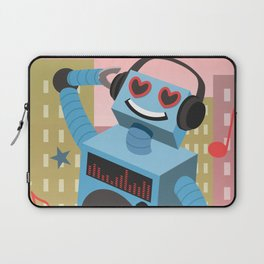 Robot DJ Laptop Sleeve