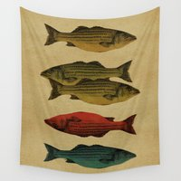 poem Wall Tapestries featuring One fish Two fish by Megs stuff...