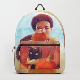Pumpkin Girl - Autumn - Halloween Backpack