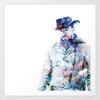 django Art Prints featuring Django by NKlein Design