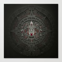 calendars Canvas Prints featuring Stone of the Sun I. by Dctr. Lukas Brezak