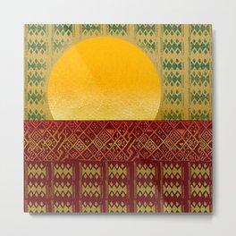 Sun Metal Print