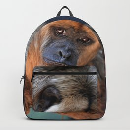 Balck and Gold Howler Monkey Backpack