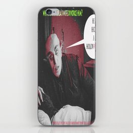 "'Count Orlock, the Vampire #3' from "" Nosferatu vs. Father Pipecock & Sister Funk (2014)"" iPhone Skin"