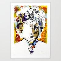 bob dylan Art Prints featuring bob dylan by Chris Shockley - shock schism
