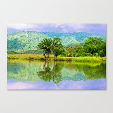 RIVER MIRROR Canvas Print