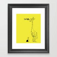 High Giraffe Framed Art Print