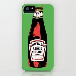 Everyone's favorite ketchup art print iPhone Case