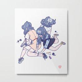 Wild Flowers (Light Background) Metal Print