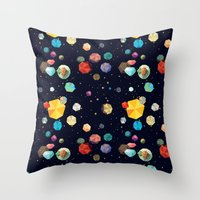 low poly Throw Pillows featuring Low Poly Space by Evan Smith