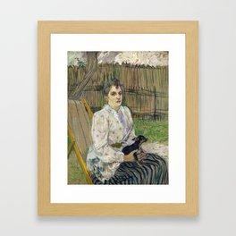 Lady with a Dog Framed Art Print
