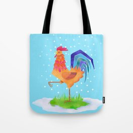 New Year rooster 2017 Tote Bag