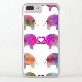 Elephant Soul Mate Clear iPhone Case