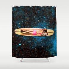 Pleiadian Surfer Shower Curtain