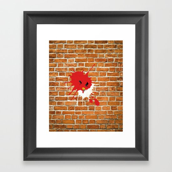 Real life - Angry Birds Framed Art Print