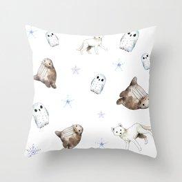 Arctic pattern II Throw Pillow