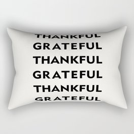 Grateful Thankful black Rectangular Pillow