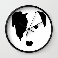 jack russell Wall Clocks featuring Jack Russell by Dizzy Moments