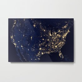 North American Lights Metal Print