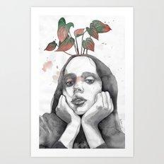 Friday nostalgia, watercolor Art Print