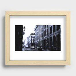 Street - Blue Recessed Framed Print