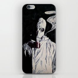 Like a Hazmat, With a Gas Mask iPhone Skin