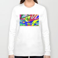 graffiti Long Sleeve T-shirts featuring Graffiti by DesignsByMarly