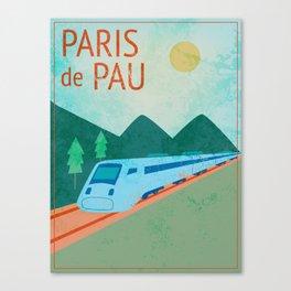 Paris to Pau Canvas Print
