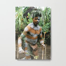 Papua New Guinea Villager Metal Print
