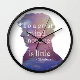 great minds - sherlock Wall Clock