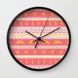 AZTEC Animal Parade Wall Clock