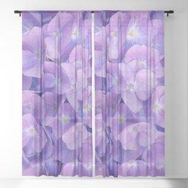 Hydrangea lilac Sheer Curtain
