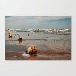 Erosion by salt water Canvas Print
