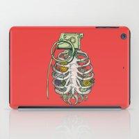 huebucket iPad Cases featuring Grenade Garden by Huebucket