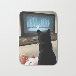 Watching TV Bath Mat