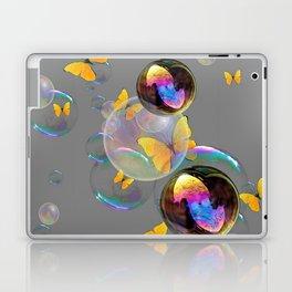 SURREAL YELLOW BUTTERFLIES & SOAP BUBBLES Laptop & iPad Skin