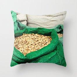 Pumpkin Seeds at the Market Throw Pillow